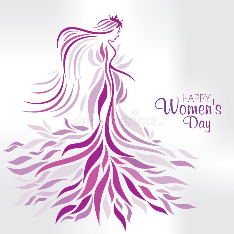 Día para mujer internacional stock de ilustración
