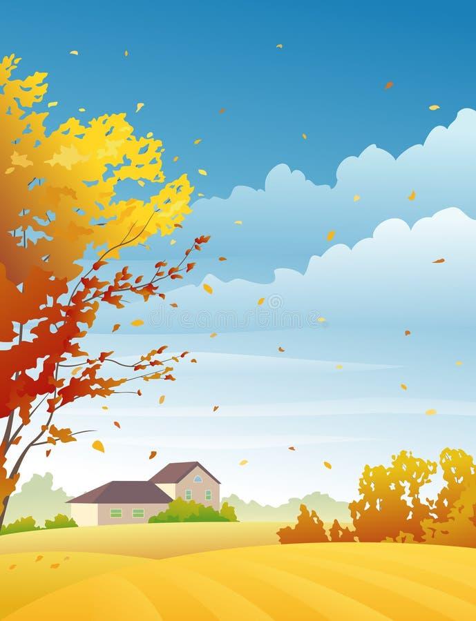 Download Día rural del otoño ilustración del vector. Ilustración de país - 42428730