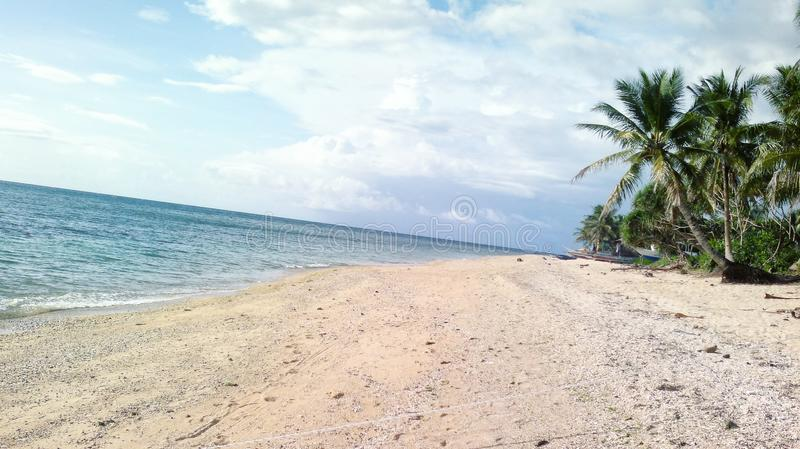 Día silencioso en la playa foto de archivo libre de regalías