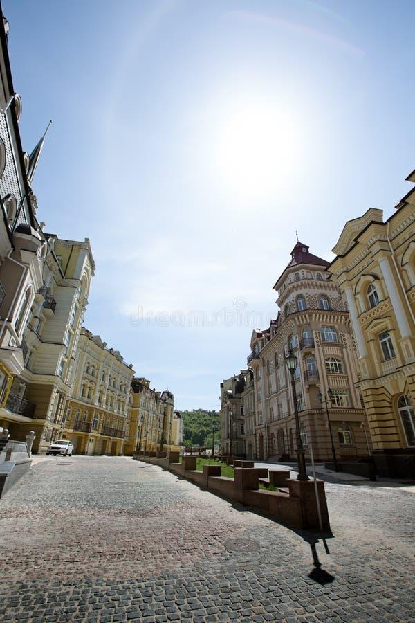 Día soleado de la calle de Sity fotografía de archivo libre de regalías