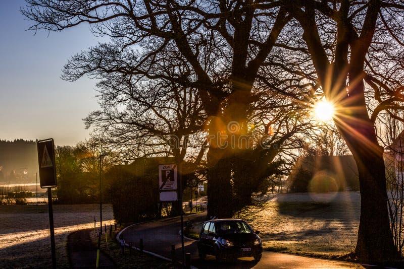 Día soleado del invierno foto de archivo