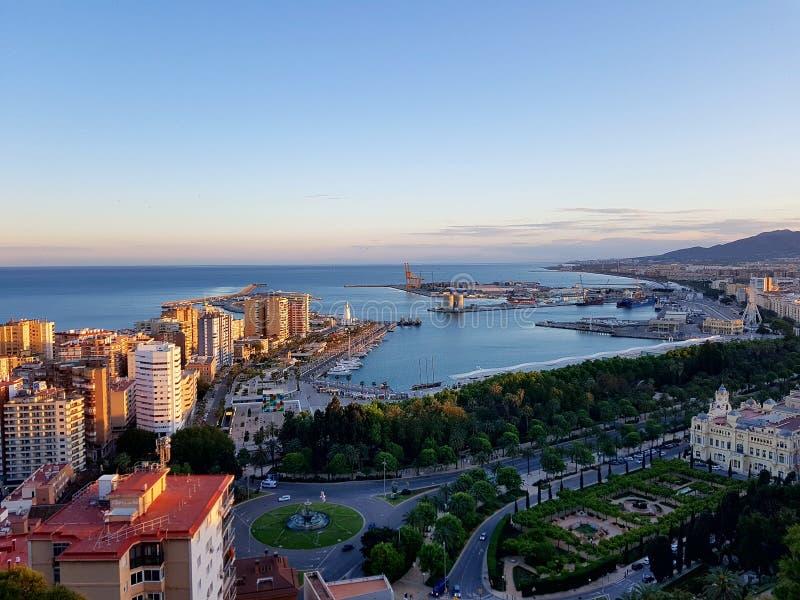 Día soleado en Málaga foto de archivo libre de regalías