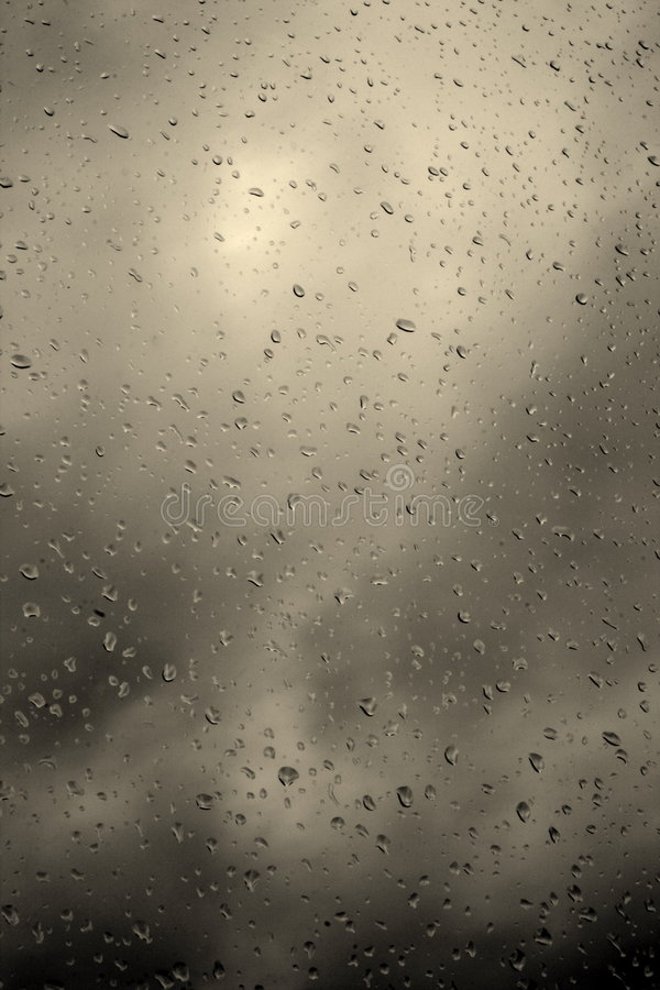 Día tempestuoso y lluvioso foto de archivo
