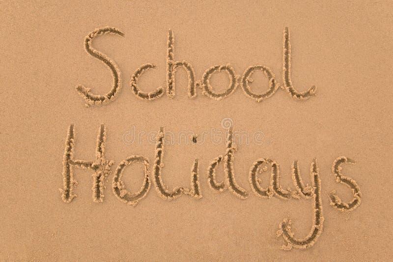 Días de fiesta de escuela en arena foto de archivo libre de regalías