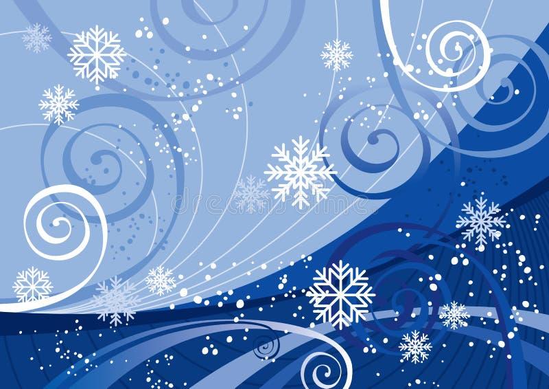 Días de fiesta de invierno (vector) ilustración del vector