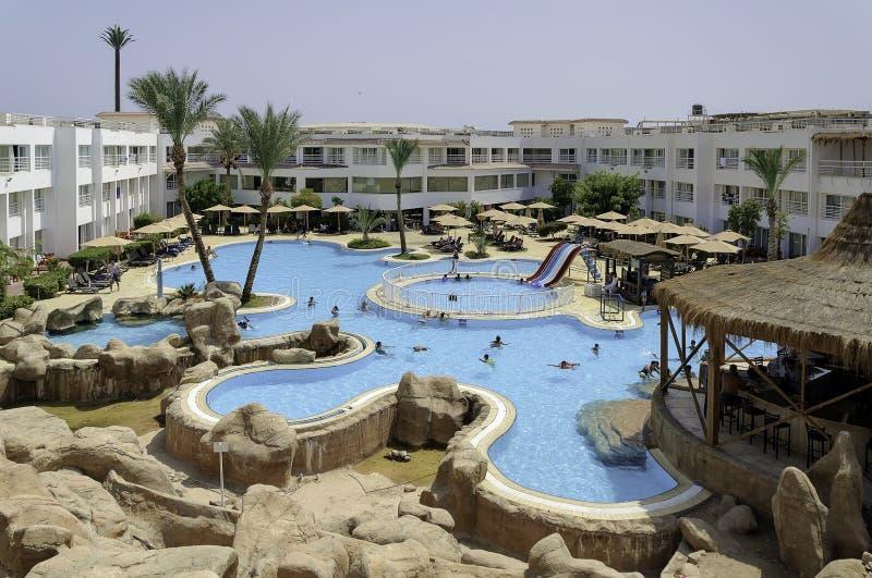 Días de fiesta en Egipto Vacaciones de verano en Sharm el Sheikh El Mar Rojo egipcio fotos de archivo libres de regalías