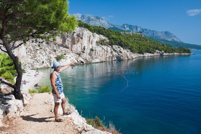 Días de fiesta en el mar. Croatia foto de archivo