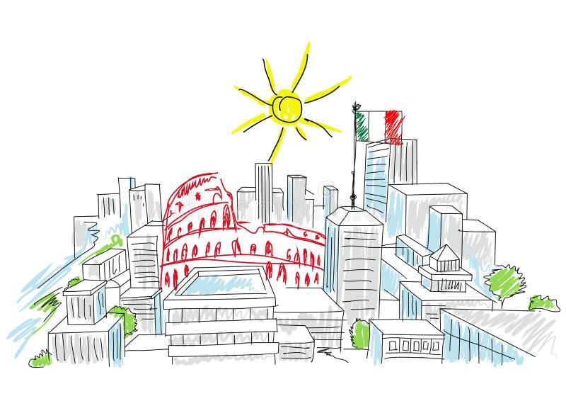 Días de fiesta en Italia stock de ilustración