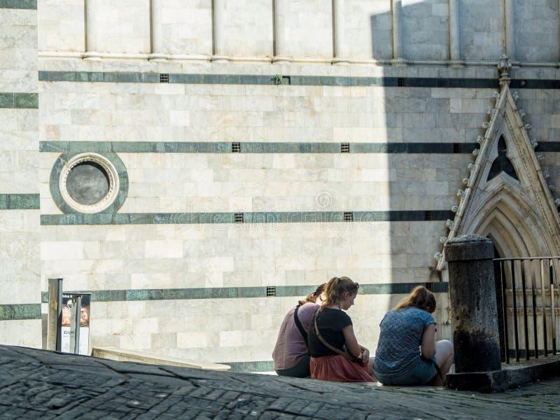 Días de fiesta en Siena fotos de archivo