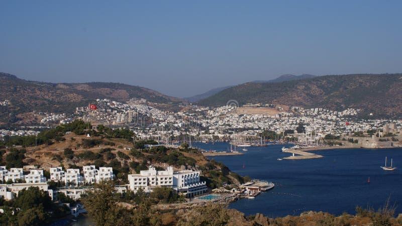 Días de fiesta hermosos Bodrum de Turquía del verano del sol del mar imagen de archivo libre de regalías