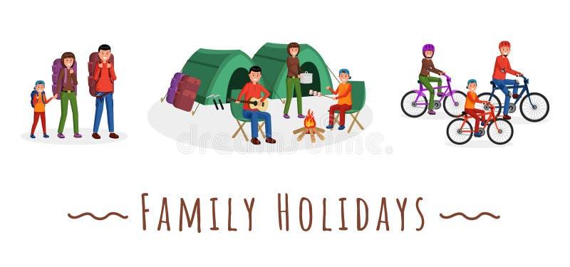 Días de fiesta de la familia fijados libre illustration