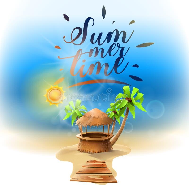 Días de fiesta de la playa del verano stock de ilustración