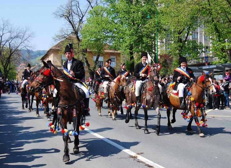 Días de la celebración de la ciudad de Brasov (Rumania) imagen de archivo