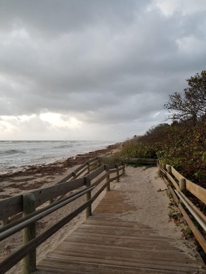 Días de la playa de la costa del espacio fotografía de archivo