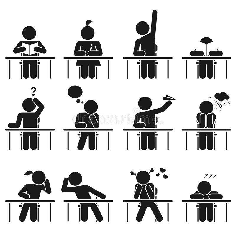 Días escolares stock de ilustración