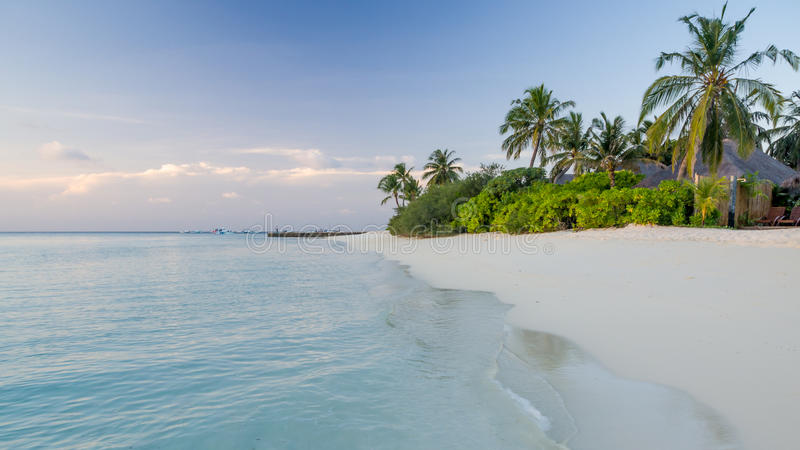 Días felices en maldivo fotos de archivo