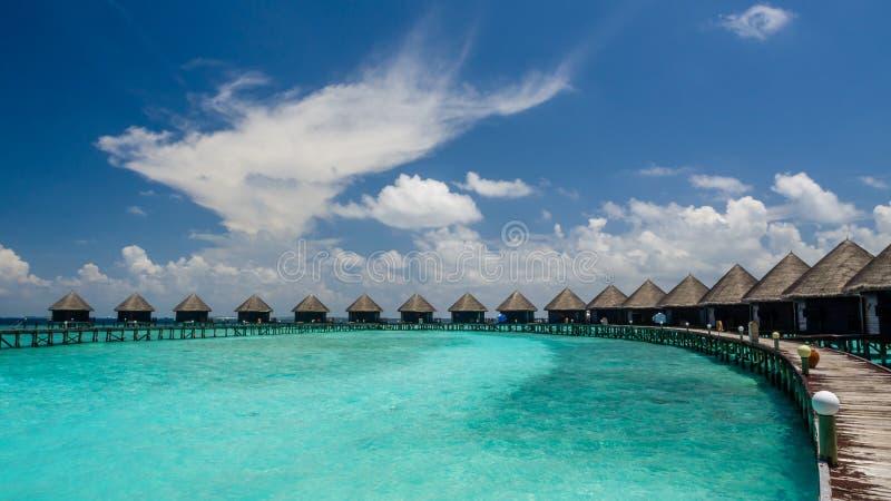 Días felices en maldivo fotografía de archivo libre de regalías