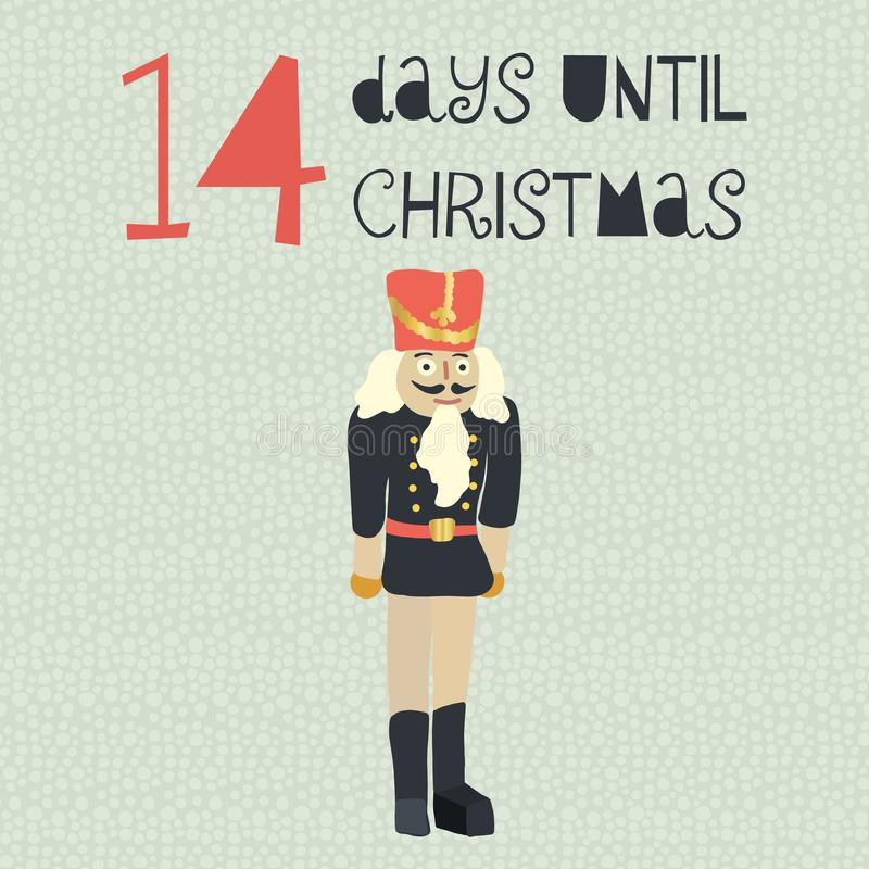 14 días hasta el ejemplo del vector de la Navidad cuenta de +EPS los días 'hasta la pizarra de la Navidad stock de ilustración