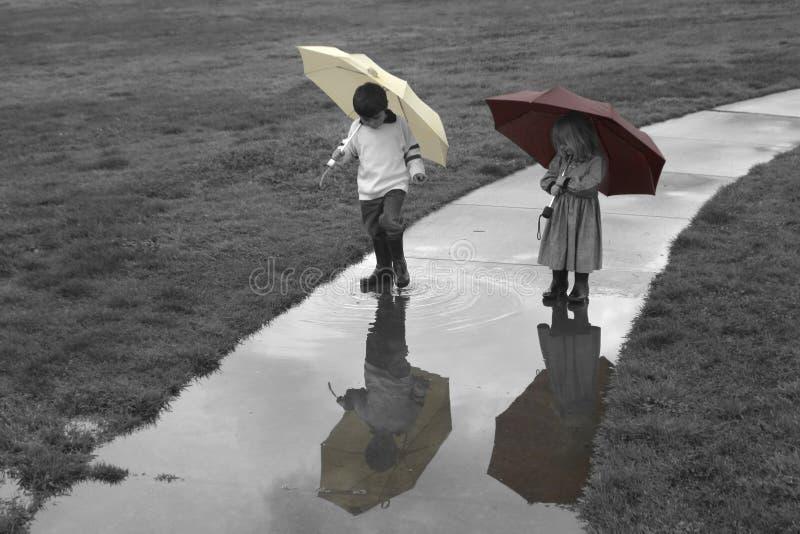 Días lluviosos imagenes de archivo