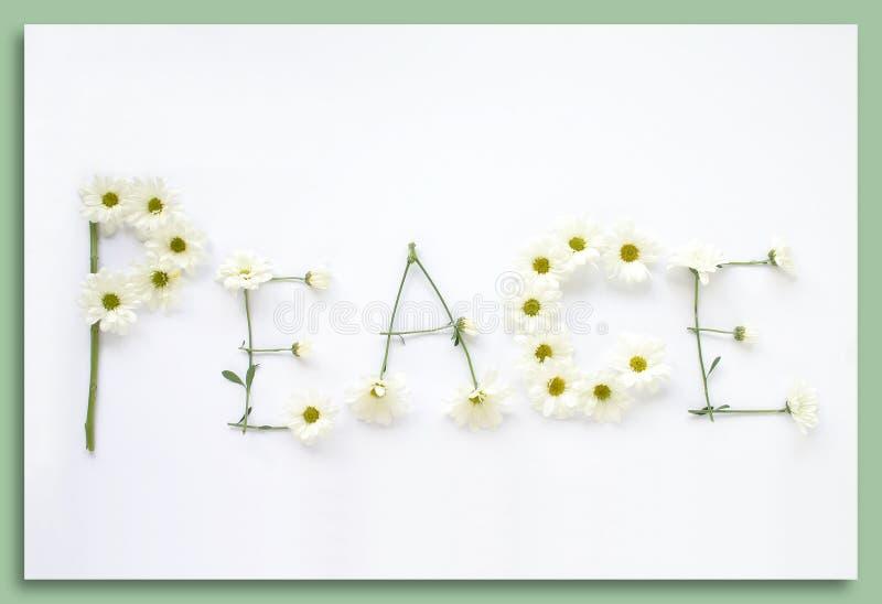 Dígalo con las flores: Paz fotografía de archivo
