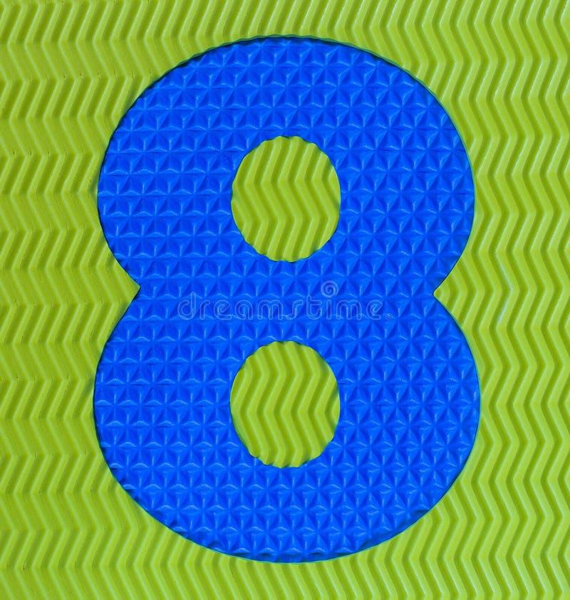 Dígito de borracha colorido número oito fotos de stock