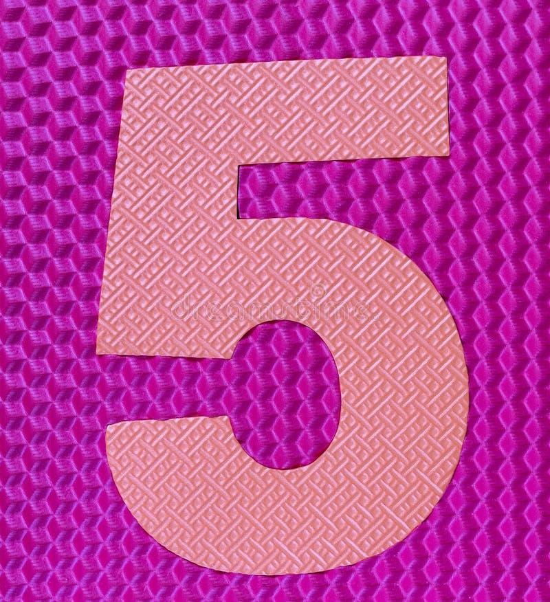 Dígito de goma multicolor número cinco fotos de archivo libres de regalías