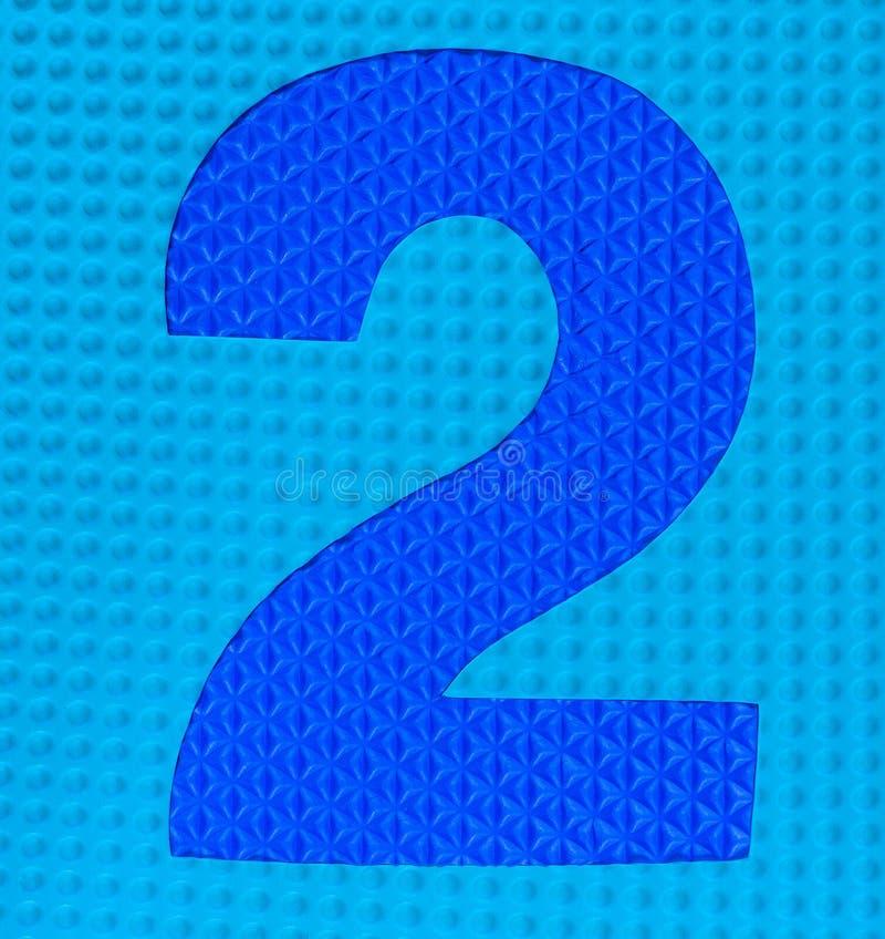 Dígito de goma multicolor número dos foto de archivo