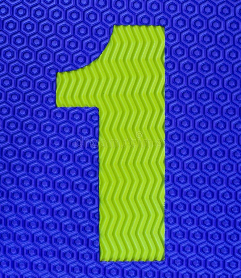 Dígito de goma multicolor número uno foto de archivo libre de regalías