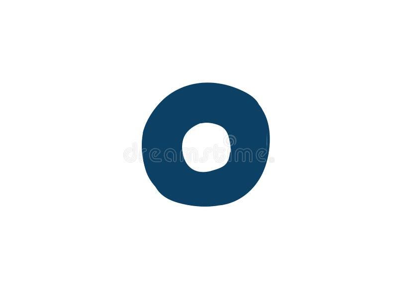 Dígito número 0 Vector logotipo para la compa??a Icono para el sitio Dígito separado del alfabeto stock de ilustración