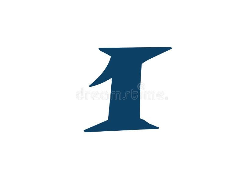 Dígito número 1 Vector logotipo para la compa??a Icono para el sitio Dígito separado del alfabeto ilustración del vector