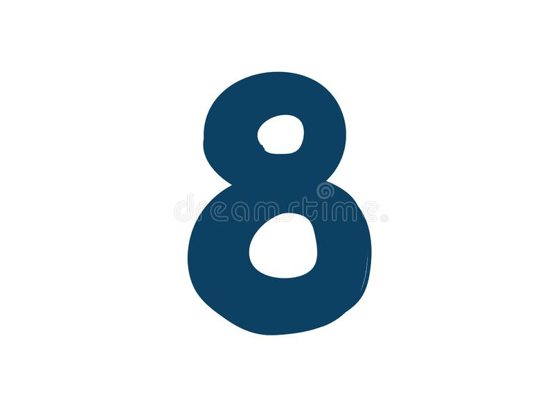 Dígito número 8 Vector logotipo para la compa??a Icono para el sitio Dígito separado del alfabeto ilustración del vector