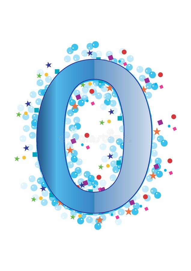Dígito Ornamental Cero - Vector Imagen de archivo libre de regalías