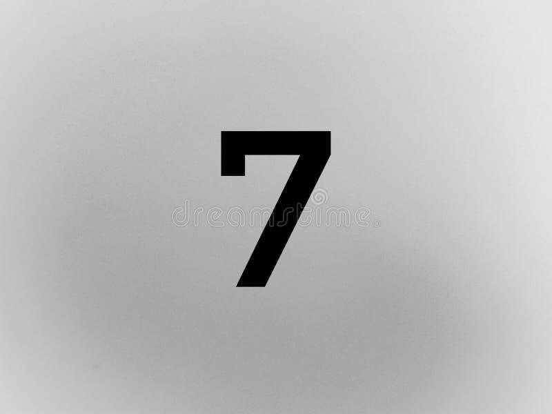 Dígito sete número 7 na cor preta fotografia de stock royalty free