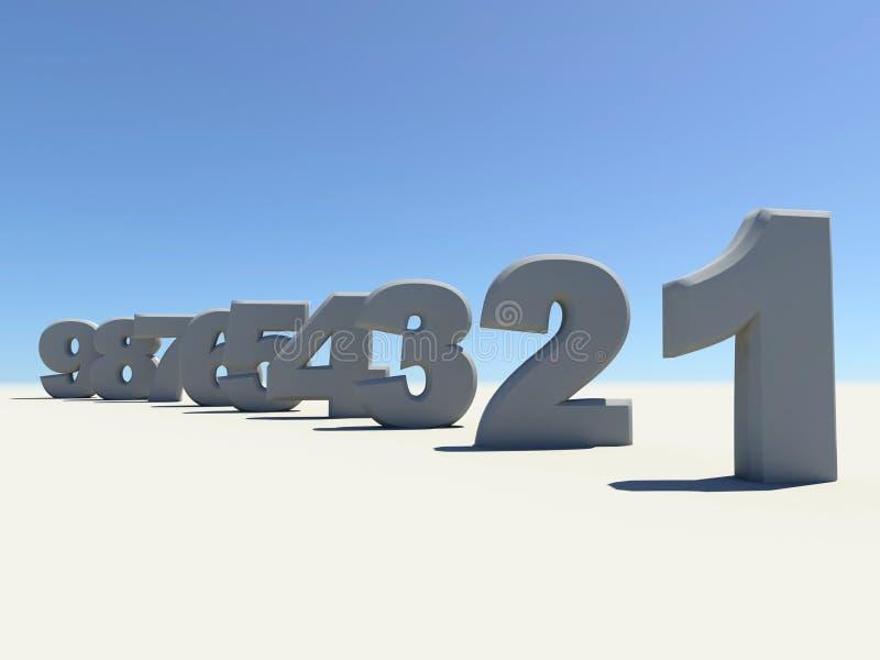 Dígitos ilustração stock