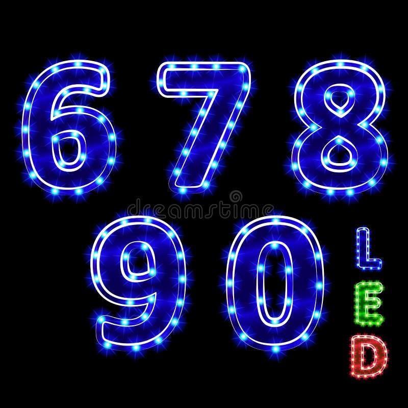 dígitos ilustración del vector