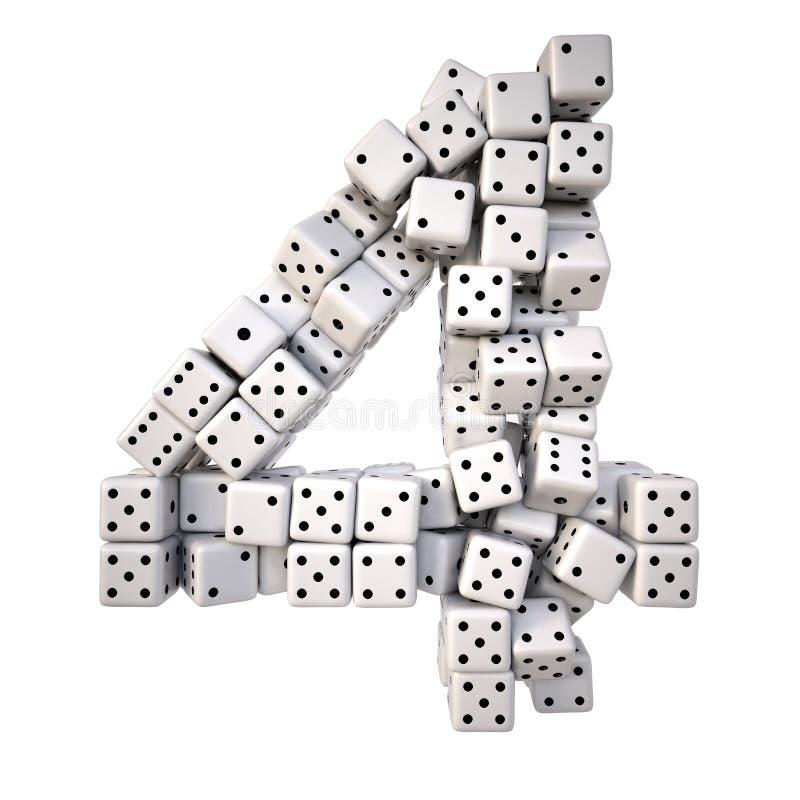 dígitos stock de ilustración