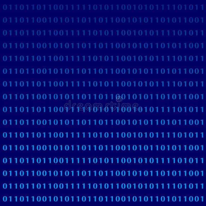 Dígitos binários do monitor da linguagem de programação ilustração stock