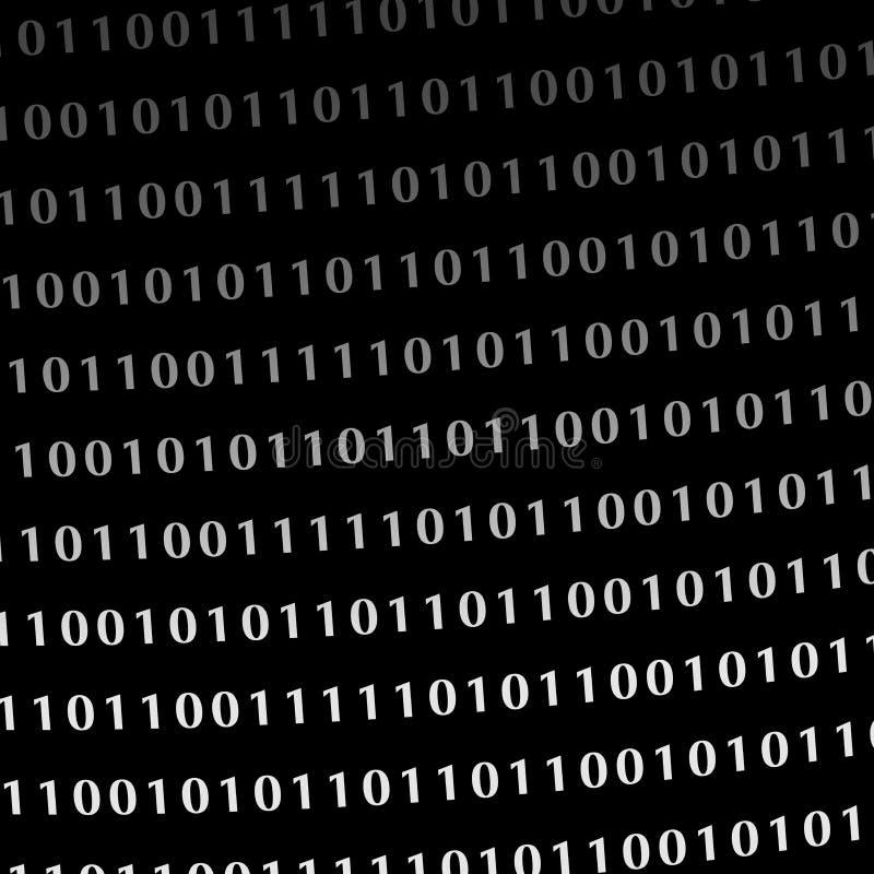 Dígitos binarios del monitor del lenguaje de programación libre illustration