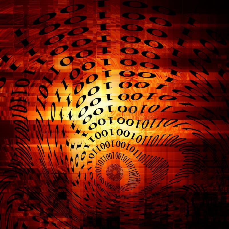 Dígitos binarios y octetos ilustración del vector