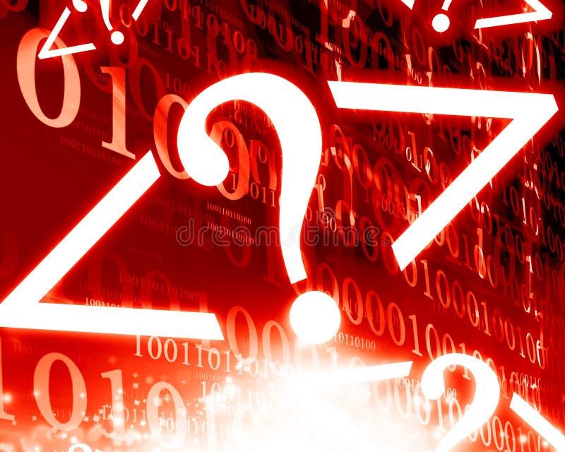 Dígitos binarios y octetos foto de archivo libre de regalías