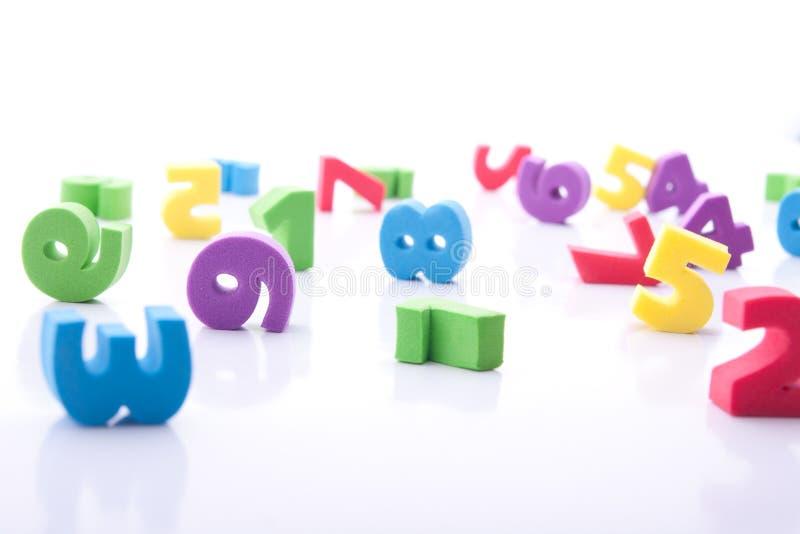 Dígitos coloridos imagen de archivo