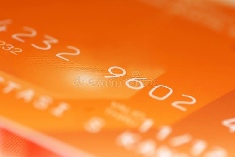 Dígitos de cartão de crédito fotografia de stock