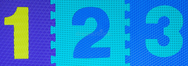Dígitos de goma multicolores 4 foto de archivo