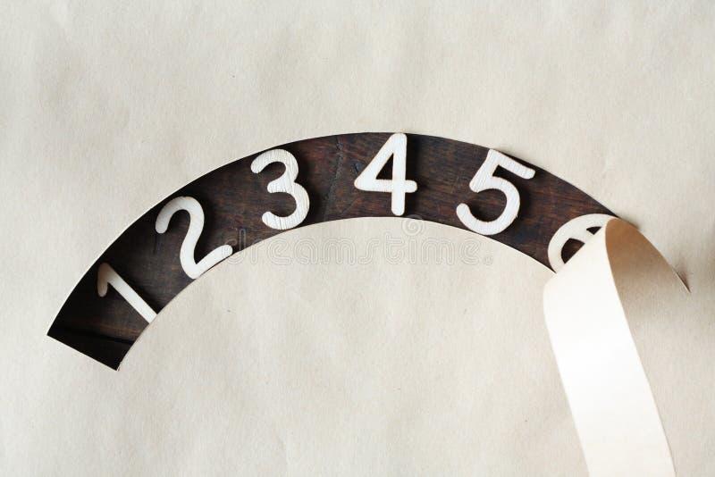 Dígitos de madera fotos de archivo libres de regalías