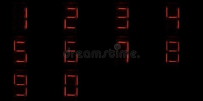 Dígitos de Numitron fotografia de stock
