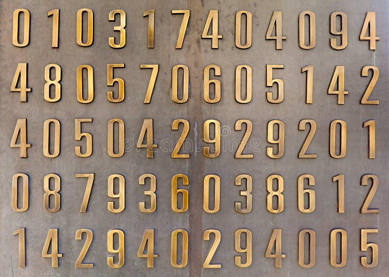 Dígitos de oro foto de archivo libre de regalías