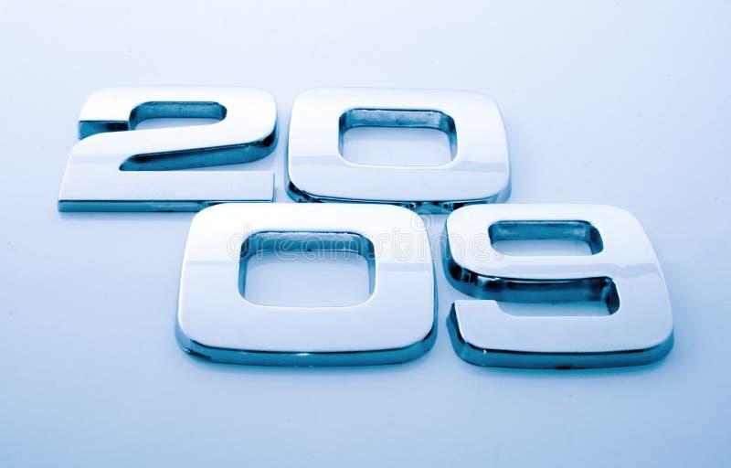 Dígitos del metal - 2009 foto de archivo