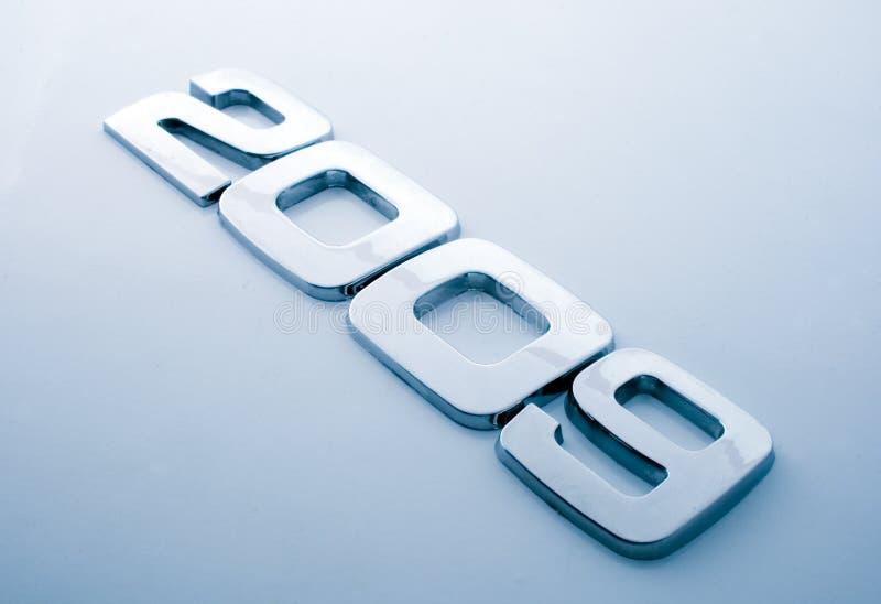 Dígitos del metal - 2009 imagen de archivo libre de regalías