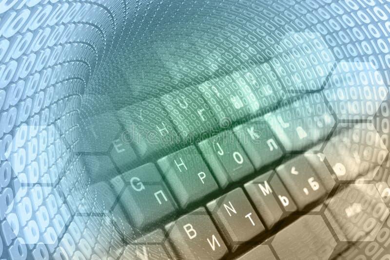 Dígitos e o teclado ilustração royalty free
