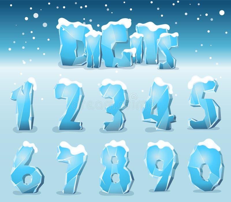 Dígitos estilizados del hielo libre illustration